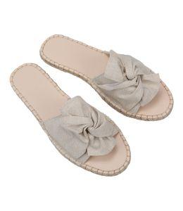 Pantofle s béžovou mašlí