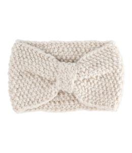 Bílá pletená čelenka