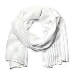 Bílý šátek s perličkami