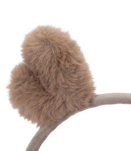 Zimní klapky na uši sobí ouška