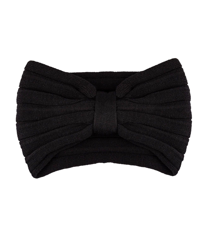 Černá pletená čelenka
