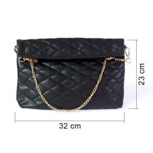 Černá prošívaná kabelka 3