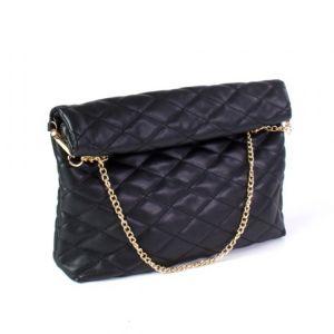 Černá prošívaná kabelka