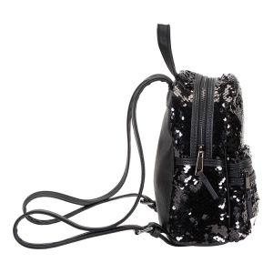 Černý flitrový batůžek 2