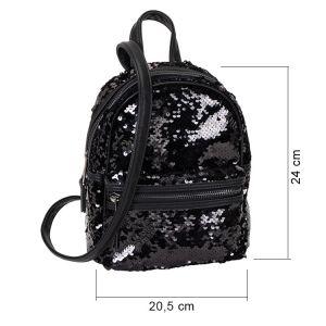 Černý flitrový batůžek 6