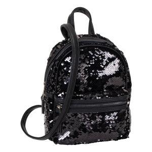 Černý flitrový batůžek