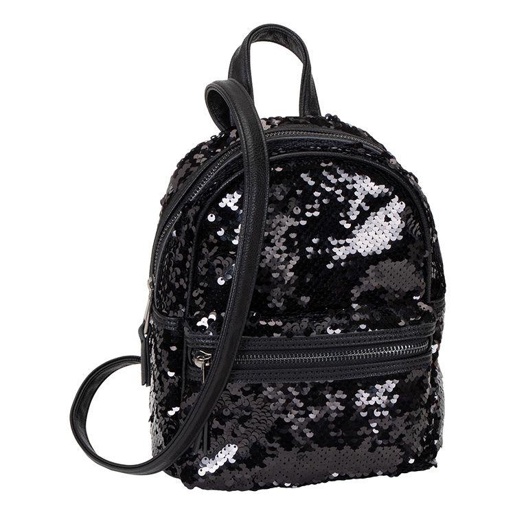 Černý flitrový batůžek 1