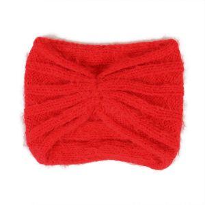 Červená pletená čelenka