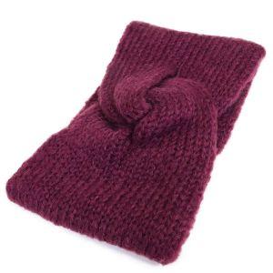 Fialová pletená čelenka