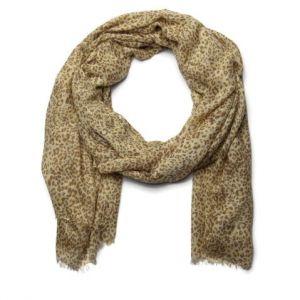 Hnědý šátek s gepardím vzorem