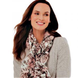 Květinový gumičkový šátek 3