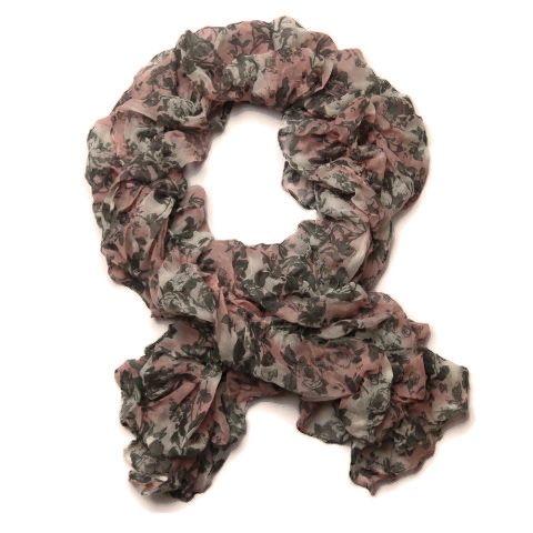 Květinový gumičkový šátek