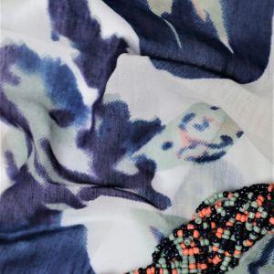 Modro-růžový kruhový šátek 1