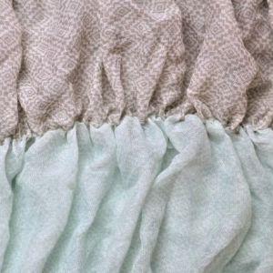 Modrohnědý gumičkový šátek 1