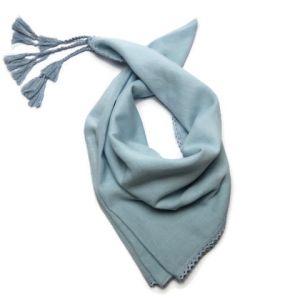 Modrý šátek 100% bavlna