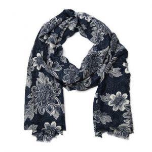 Modrý květinový šátek
