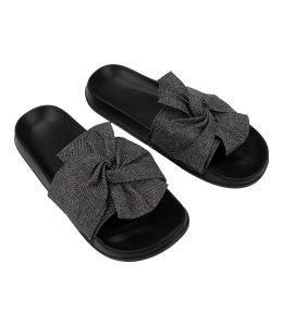 Pantofle se stříbrnou mašlí
