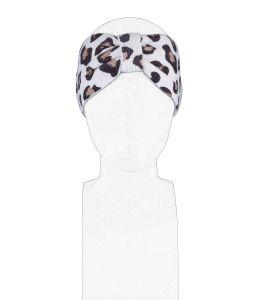 Pletená čelenka s gepardím vzorem