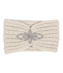Pletená čelenka s  kamínkovou ozdobou