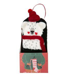 Ponožky s ledním medvědem s šálou