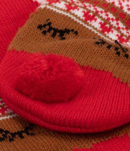 Vánoční ponožky s motivem soba Rudolfa