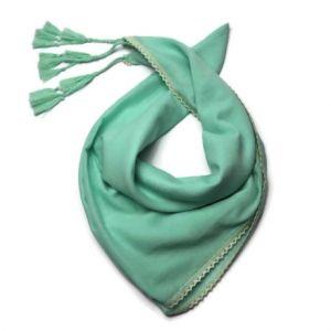 Tyrkysový šátek 100% bavlna