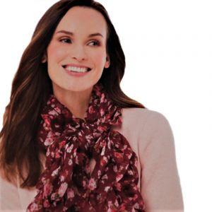 Vínový šátek s gumičkou 3