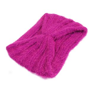 Fuchsiová pletená čelenka2