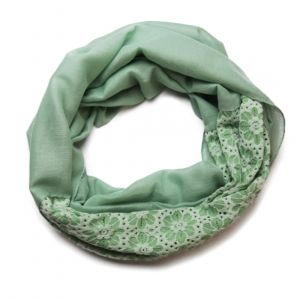 Zelený tunelový šátek