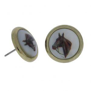 Zlaté náušnice s koněm