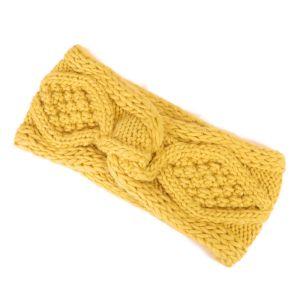 Žlutá pletená čelenka
