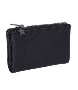 Malá dámská peněženka v černé barvě s hvězdičkou