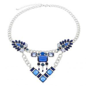 Extravagantní modrý náhrdelník
