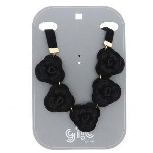 Náhrdelník černé růže2