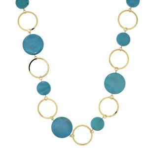 Náhrdelník s pastelově modrými kolečky