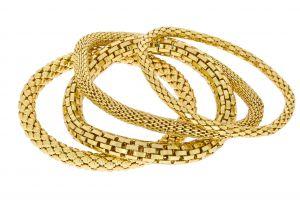 Zlaté náramky na gumičce s různým motivem 1