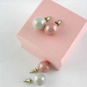 Bílé a růžové matné perličky