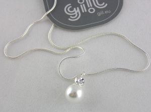 Decentní perlička s kamínkem