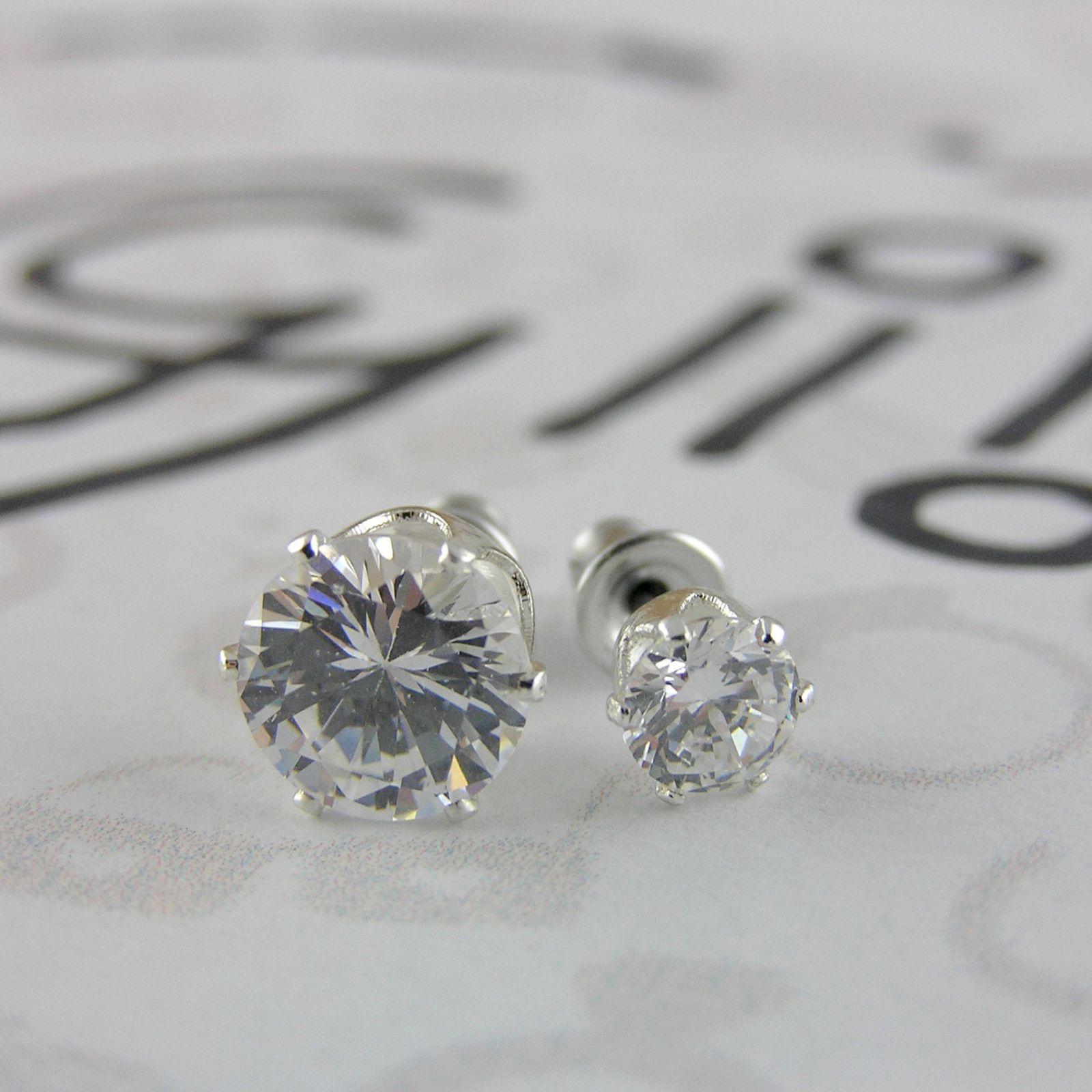 Dva páry zirkonových kamínků GIIL