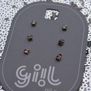 Miniaturní pecičky ČIRÁ, ŠEDÁ, RŮŽOVÁ