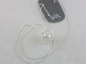 Náhrdelník Perleťová koule v drátku