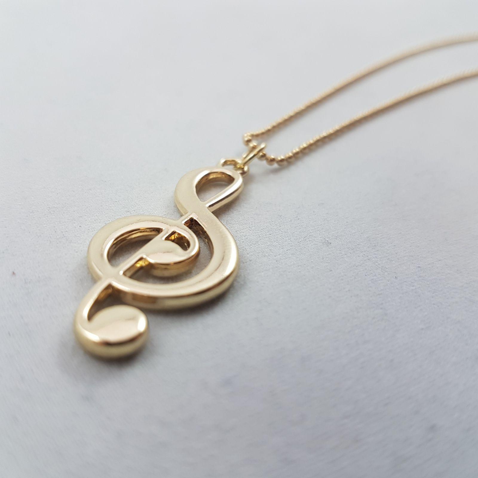 Náhrdelník Zlatý houslový klíč