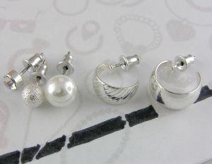 Náušnice Lesklé perličky i kruhy