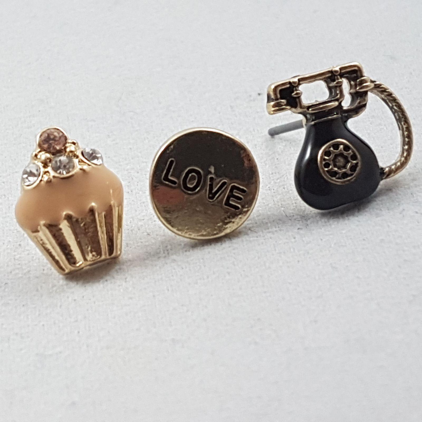 Náušnice Love, Dortík a Telefon GIIL