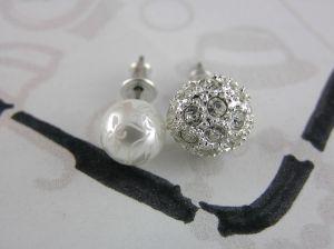 Náušnice perličky a kamínkové kuličky
