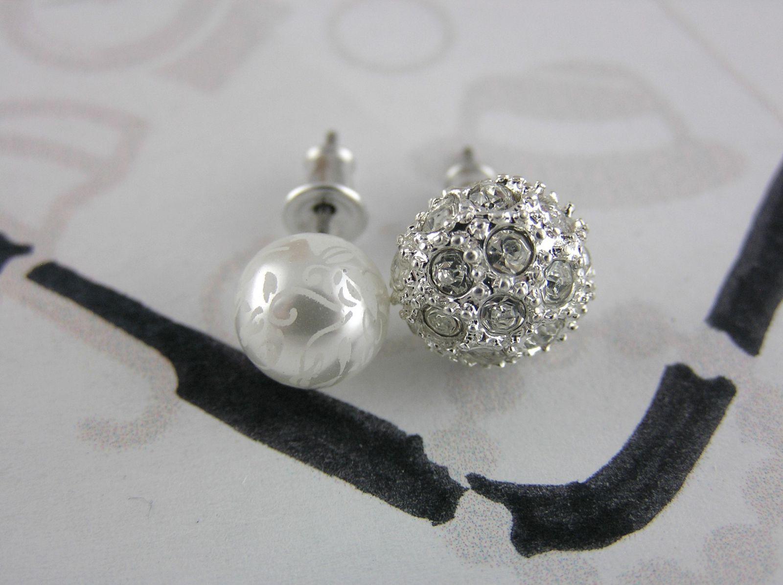 Náušnice perličky a kamínkové kuličky GIIL