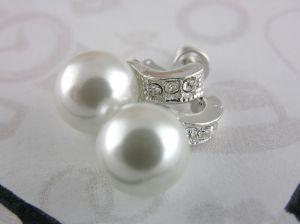 Náušnice Perličky s několika kamínky