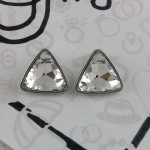 Náušnice s masivními kamínkovými trojúhelníky