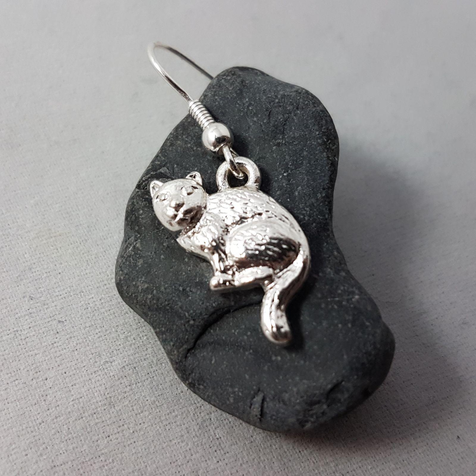 Náušnice se stříbrnými kočičkami GIIL