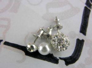 Náušnice Tři páry náušnic s perličkami